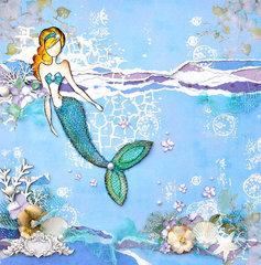 Julie Nutting Mermaid Canvas - Flying Unicorn