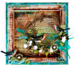 Bird Canvas - Flying Unicorns