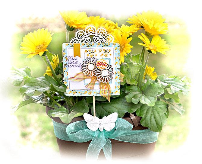 Flower and Plant Pick (Gift card  holder) - Prima Design Team
