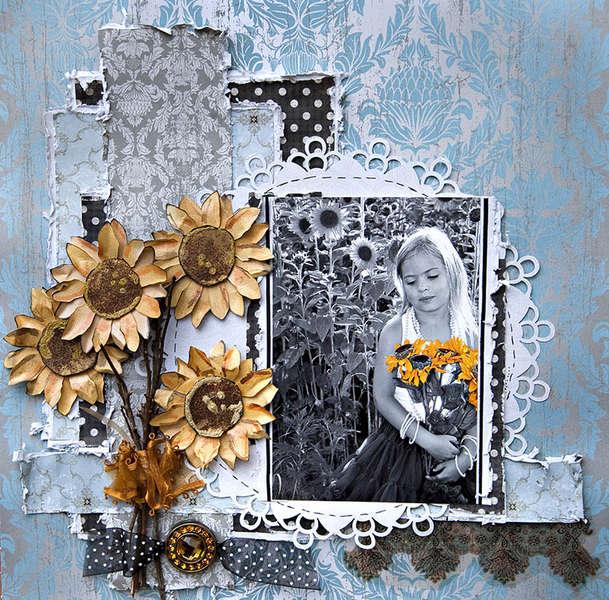 Sunflower Fields - Swirlydoos -