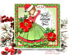 Bright and Cheery Julie Nutting Doll Card