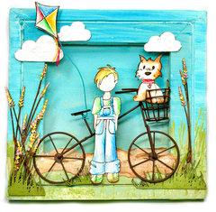 Canvas - Dog and Boy - Flying Unicorns