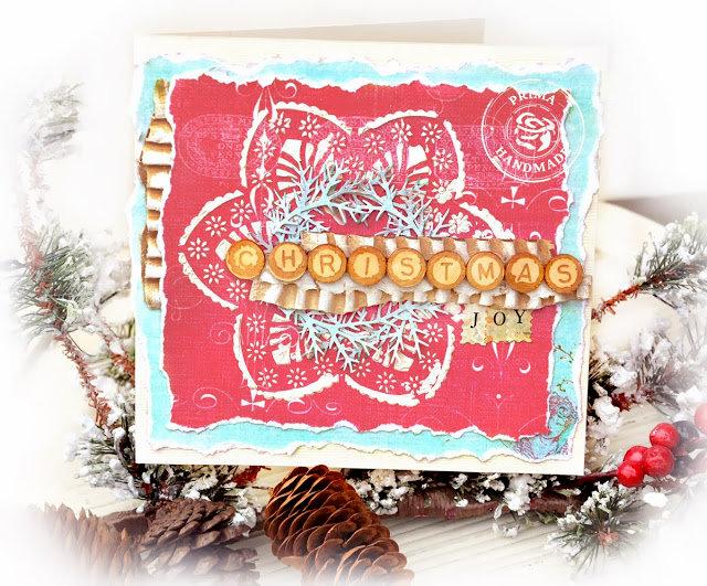 Christmas  Card -  Prima Marketing DT