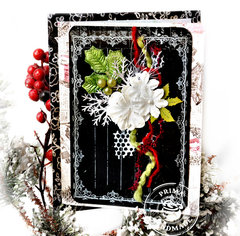 Christmas Card with Chalkboard - Prima DT