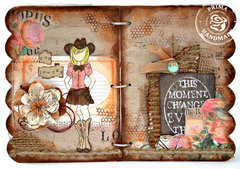 Cowgirl Doll Stamp - Prima and Julie Nutting
