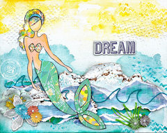 Mermaid Canvas - Prima and Julie Nutting