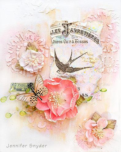 Pink Canvas -Scraps of Elegance