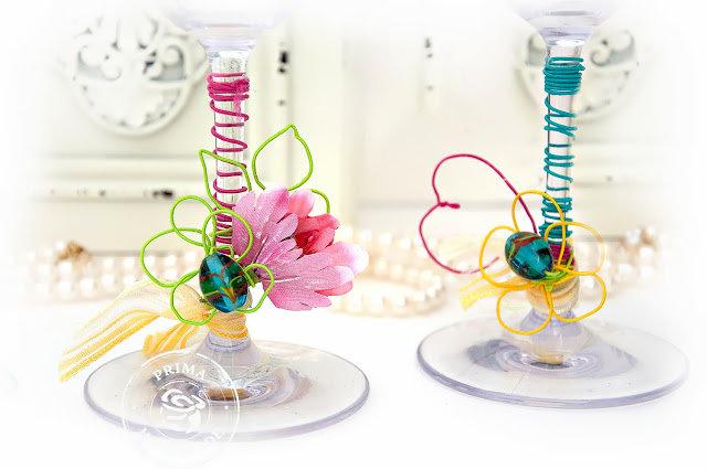 Decorated Wine Glasses - Prima Marketing DT
