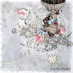 Winter Balloon Ride -Scraps Of Elegance