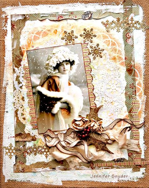 Winter Girl Canvas - Scraps Of Elegance