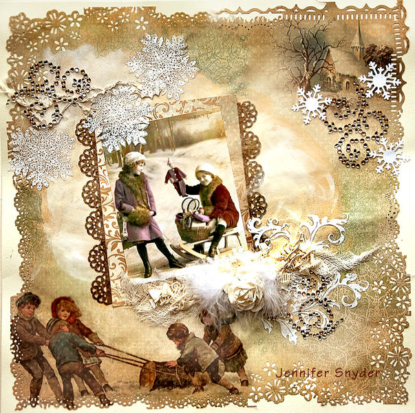 Children in the Snow - Scraps Of Elegance
