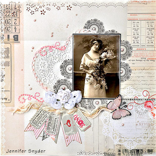 Vintage in Pink - Scraps Of Elegance