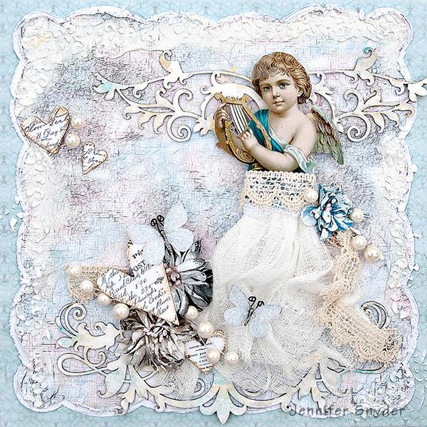 Angel All Dressed Up - Scraps Of Elegance