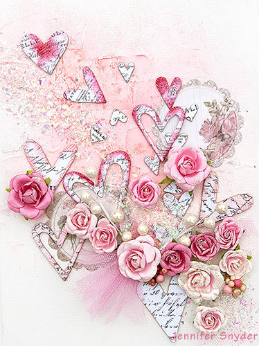 Valentines Canvas - Scraps of Elegance
