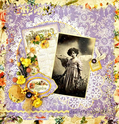 Purple Angel - Scraps of Elegance
