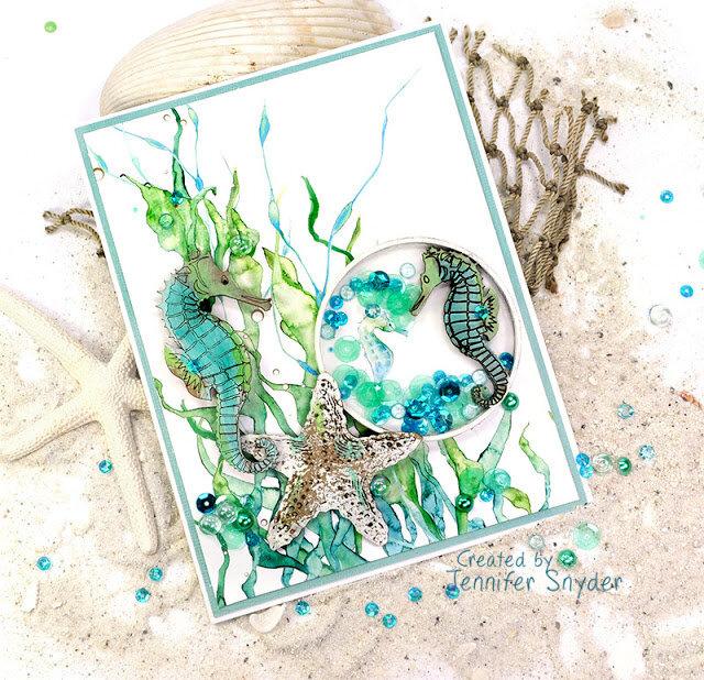 Seahorse Shaker using Artist Trading Coins