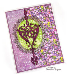 Purple card with chipboard