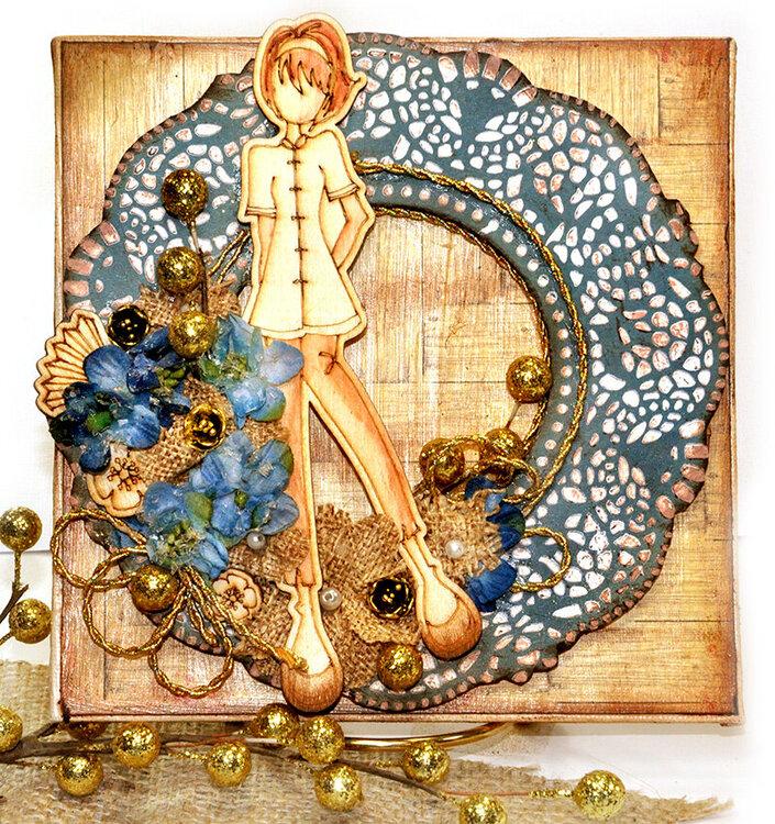 Julie Nutting Doll Wreath - Flying Unicorns