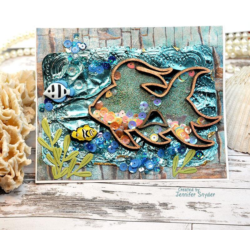 Seascape Shaker Card