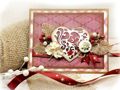 Valentines Card using Christmas Paper