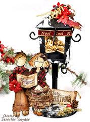 Christmas Carolers - Home Decor Flying Unicorn