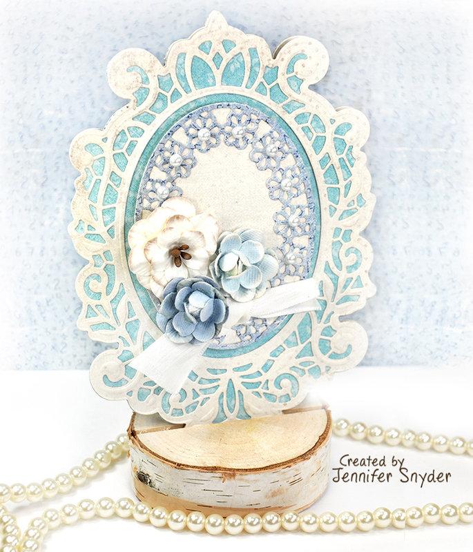 Graceful Shaped Card - Spellbinders