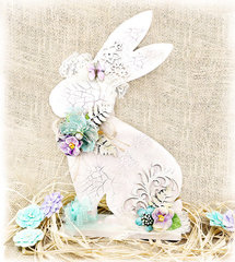 Home Decor Wooden Bunny - Petaloo