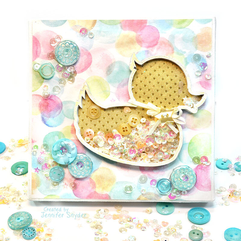 Rubber Ducky shaker canvas for the baby