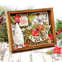 Christmas Shadow Box Home decor