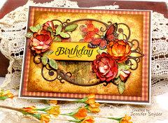 Vintage Floral Birthday Card