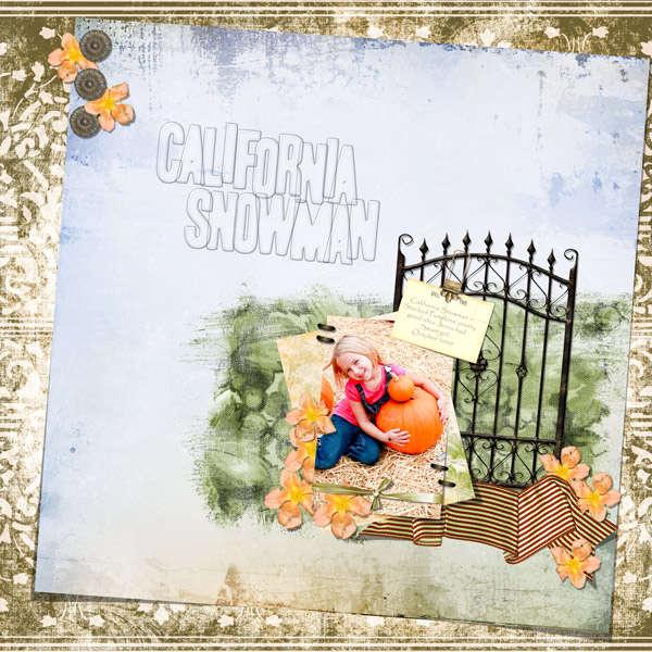 California Snowman