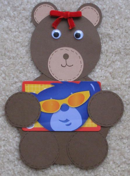 Teddy Bear Gift Card Holder