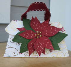 Poinsettia Gift Card Holder