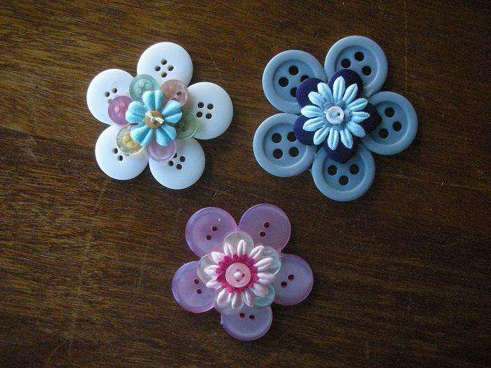 Stacked Flowers - Buttons 2