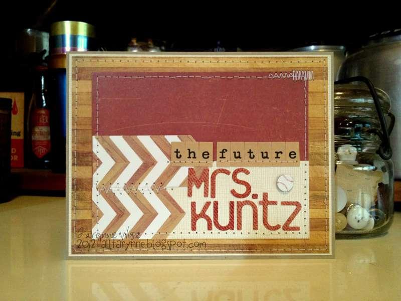 The future Mrs. Kuntz