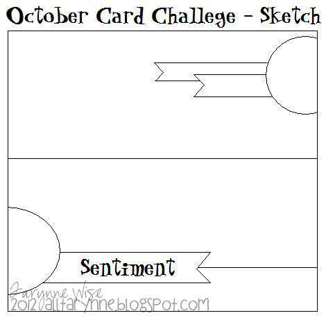 October Card Challenge - Sketch