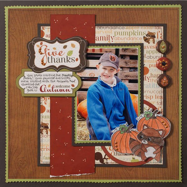 Give Thanks Autumn Layout