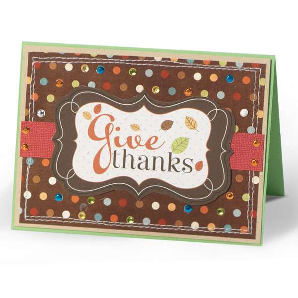 Give Thanks blinged out Card