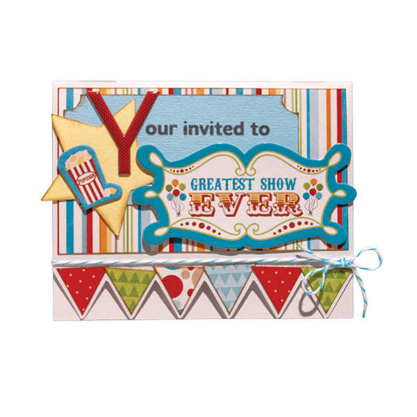 "Animal Crackers ""Invitation"" Card"