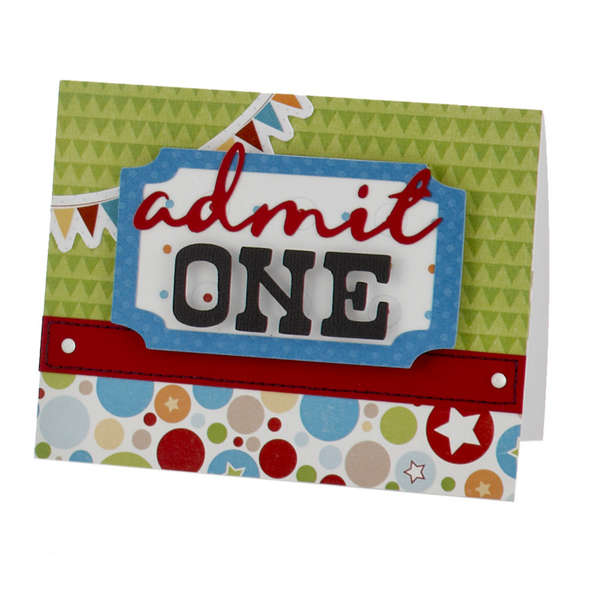 "Animal Crackers ""Admit One"" Invitation Card"