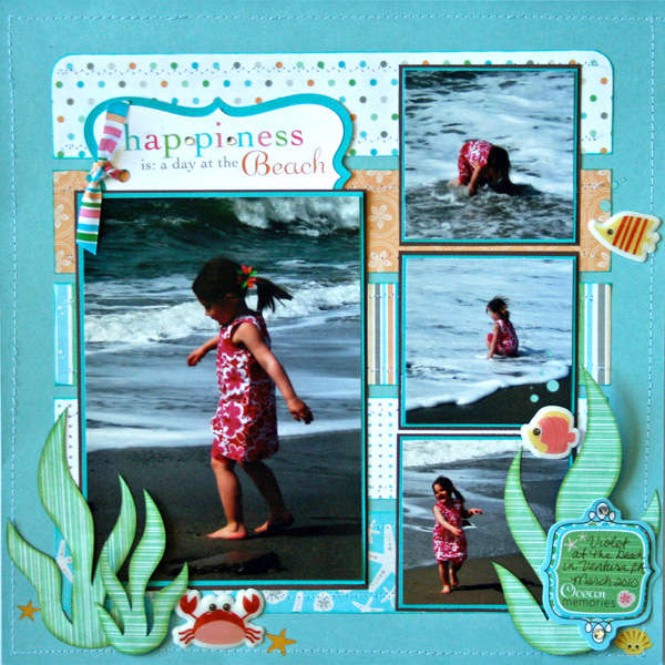 Happiness is a Day at the Beach by Erin Bassett