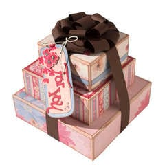 Garden Party Stacked Gift Boxes