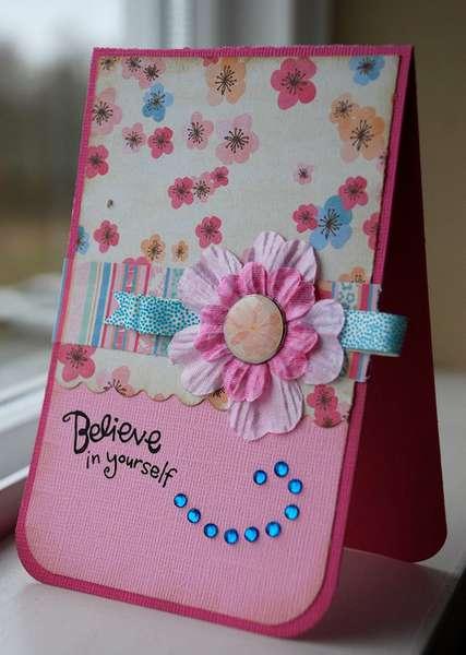 "Garden Party ""Believe in Yourself"" Card"