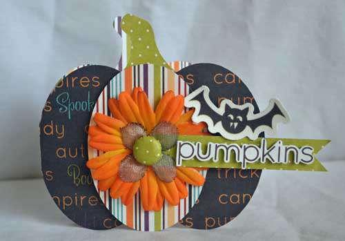 Pumpkin Card by Guiseppa Gubler