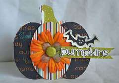 Pumpkin Card by Guiseppa Gubler