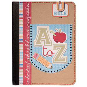 A to Z Notebook Using Imaginisce Geek is Chic Collection