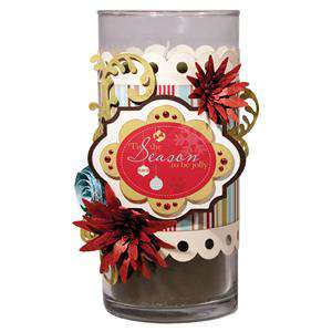 Tis the Season Candle Wrap using Imaginisce Santa's Little Helper Collection