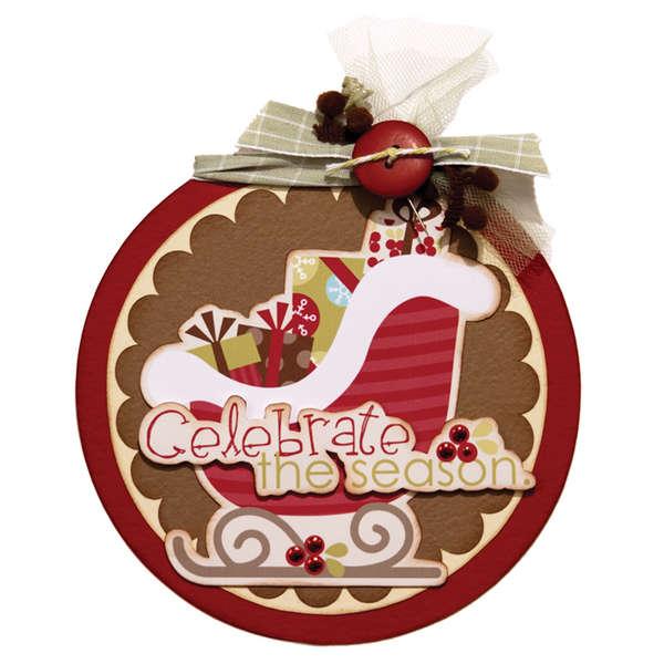 Celebrate the Season Ornament using Imaginisce Santa's Little Helper Collection