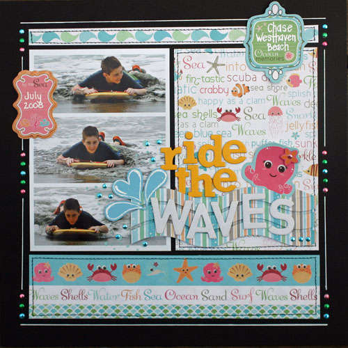 ride the waves by Kim Holmes