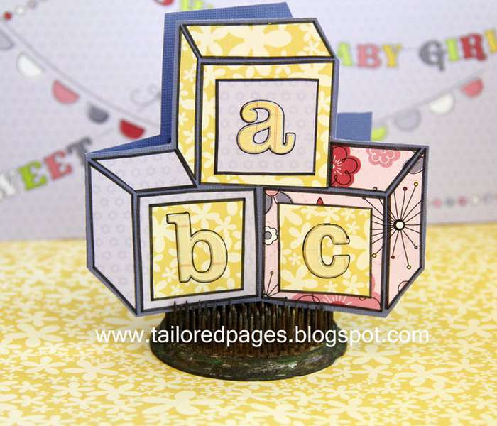 Little Cutie Baby Block Card by Tracey Taylor